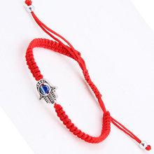 Caliente 2019 cuerda de la suerte mujeres hombres pulsera y brazaletes hilo hecho a mano Rojo Negro pareja amigos joyería de moda(China)