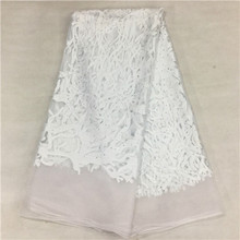 SR15K-22015 free shipping! High quality wholesale sequins lace lace fabric cloth white French network Ray silk fabric series(China (Mainland))