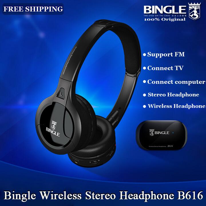 New Upgrade Version Original Bingle Wireless Headset Multipurpose Ergonomic Earphone/Headphone With FM/TV Connection RCA Pin(China (Mainland))