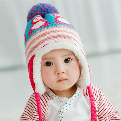 Гаджет  New arrival autumn winter baby boy girl skullies hats velvet baby beanies ear hat wool cap wholesale BH045 baby hats None Детские товары