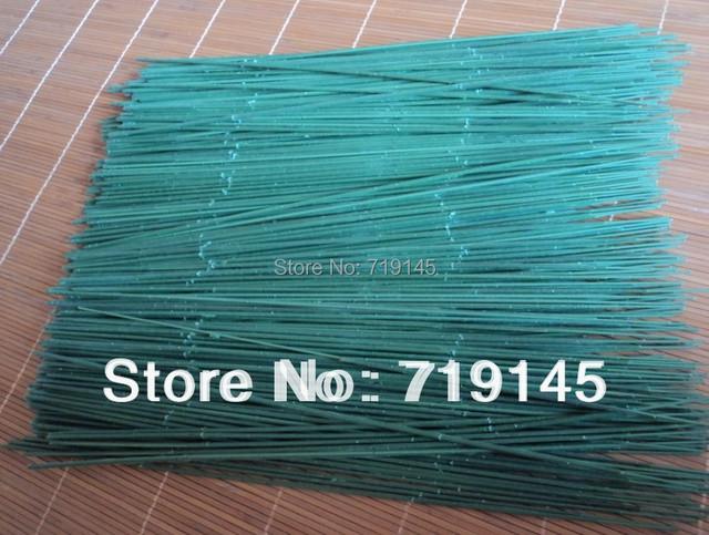 100PCS 29cm flower stem diy silk flower green iron wire stem FLOWER ACCESORRIES