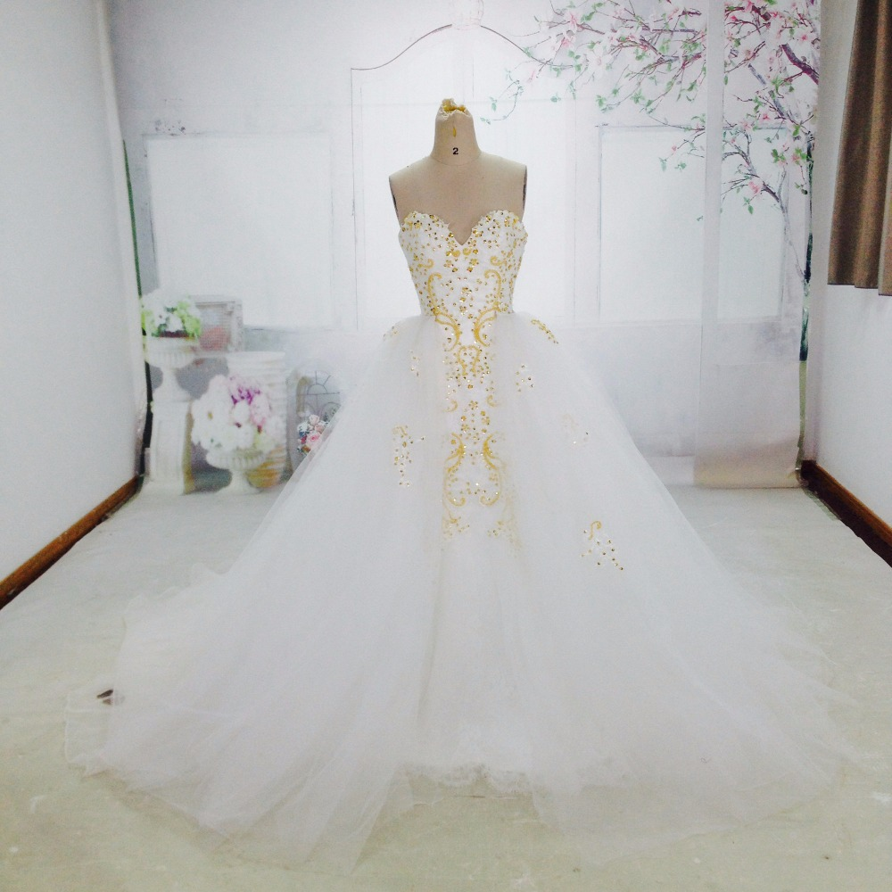 platinum beaded lace mermaid wedding dress with tulle organza skirt