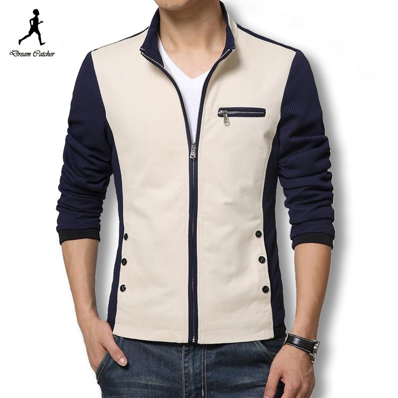 2016 Men Fashion Jacket Patchwork Casual Male Jacket Fall Mens Jackets And Coats Plus Size Men Coat Slim Fit Casual Coat Men(China (Mainland))