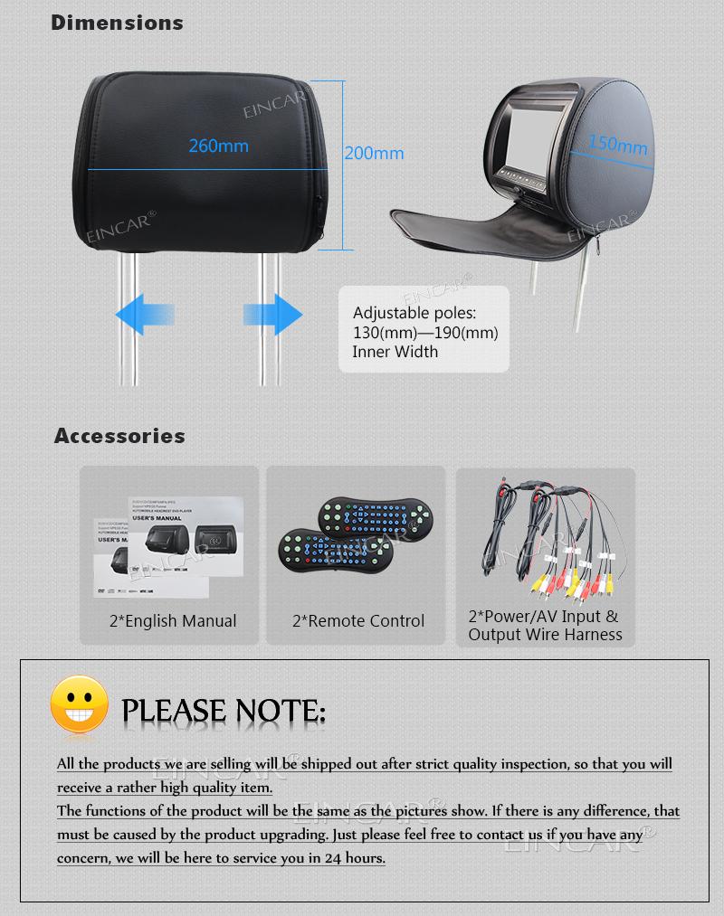 Pair of Car Headrest Monitor LCD IR FM Transmitter Car dvd player dual screen Multimedia Game Player + 2 Wireless IR Headphones