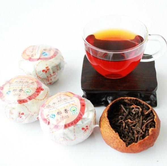 Special Orange Cooked Puerh Tea, Ferment Yunnan Puer Tea/handmade,1kg,Freeshipping.