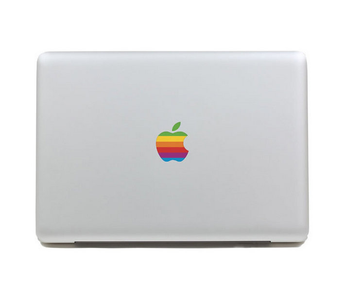 10pcs Hot Sale Rainbow Logo Laptop Part Decal Skins For Macbook Air/Pro/Retina 11 13 15 Inch Free Shipping <br><br>Aliexpress