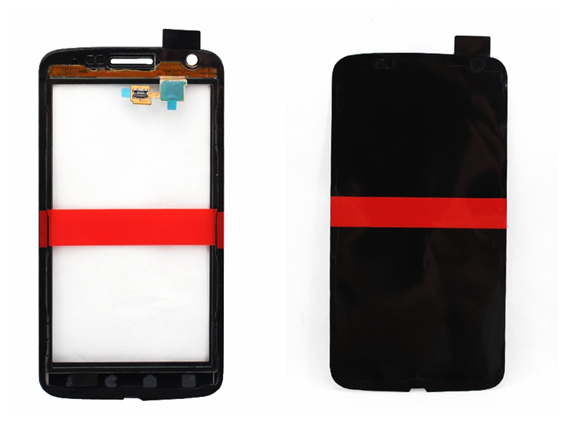 Black For Motorola Atrix 4G MB860 Touch Screen with digitizer with adhesive with high quality(China (Mainland))
