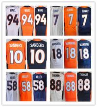 Men 10 Emmanuel Sanders 18 Peyton Manning 58 Von Miller 88 Demaryius Thomas 94 DeMarcus Ware jersey(China (Mainland))