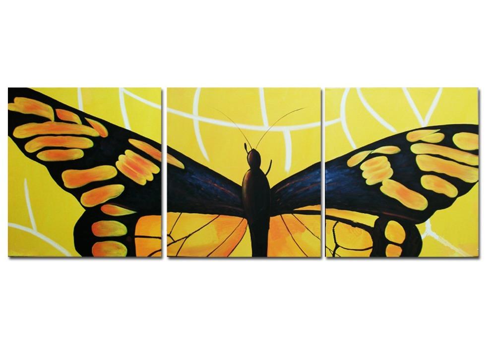 Вышивка триптих бабочка