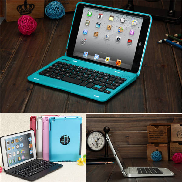 2015 New Design 5 colors Dustproof 2 in1 Bluetooth 3.0 Wireless Keyboard Foldable Case Stand Cover Holder for iPad Mini 1 2 3(China (Mainland))