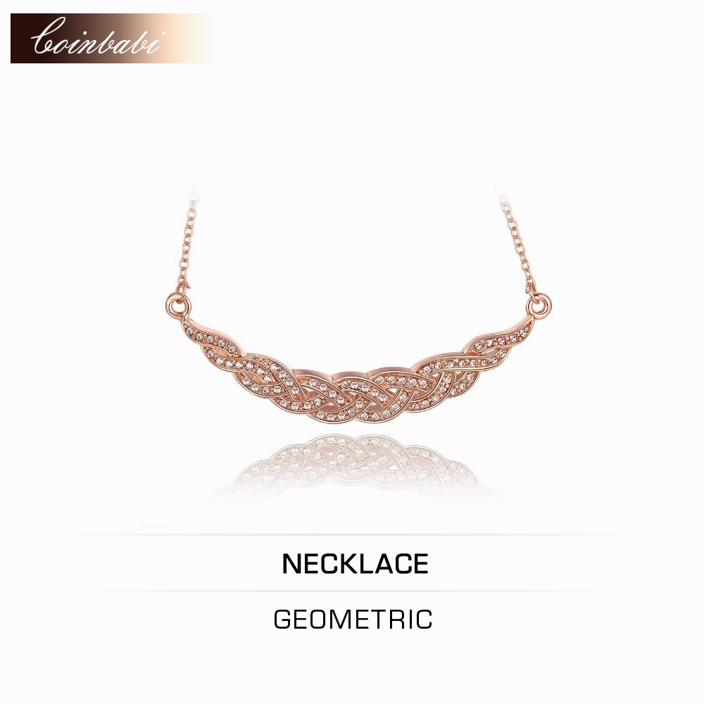 Geometric Pendant Necklace,Bohemia Rose Gold Plated & Rhinestone For Women,Green Rose Gold Pendant Necklace Geometric Fashion R(China (Mainland))