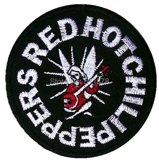 RED HOT CHILI PEPPERS Music Band EMBROIDERED IRON On Patch T shirt Transfer APPLIQUE Heavy Metal Rock Punk Badge Party Favor(China (Mainland))