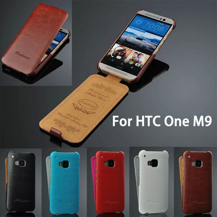 New Luxury Genuine leather Wallet M9 Phone Bags Vertical Case Cover SkinFor HTC One M9 5 inch(China (Mainland))