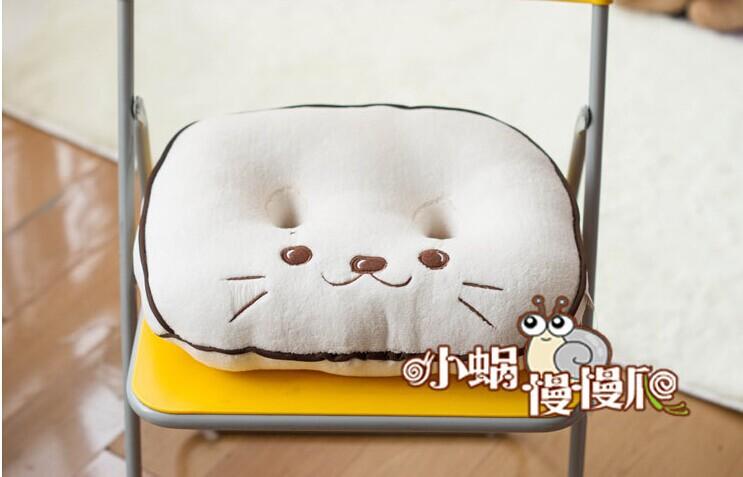 creative design cushion Double orifice beautiful buttock cushion The seal design cushion gift about  40x35cm(China (Mainland))