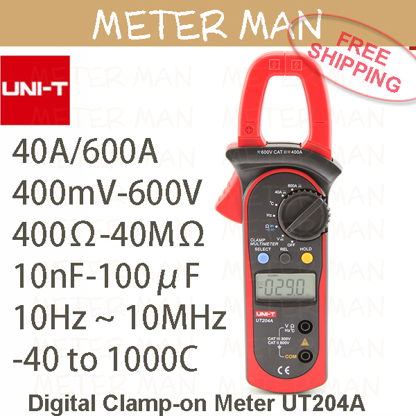 Unit Proffesional Brand New Auto Range 4000 Count Resistance Capacitance Frequency Temperature Digital Clamp Meter UT204A(China (Mainland))