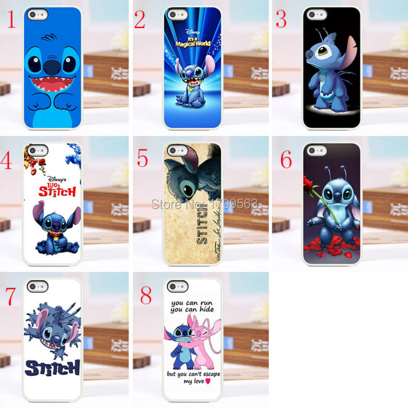 Hot sales 8pcs lots stitch hard White Skin case cover for font b iphone6 b font
