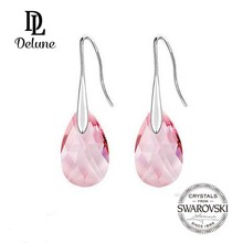 Crystal from Swarovski Elegant Pendant Earring Drop Earrings Brincos Platinium Plated Make with SWA Element Gift #75352(China (Mainland))