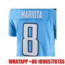 Men's Marcus Mariota #8 DeMarco Murray Light Blue Color Rush Limited Adult Embroidery Logos Stitched Free Shipping(China (Mainland))