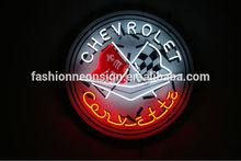 Mode Neon Sign Chevrolet Corvette C6 Handcrafted réel verre lampe néon Neon Sign lumière Beerbar signe néon bière connexion 24 x 24(China (Mainland))