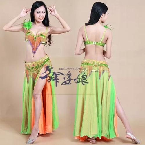 Sexy Belly Dance Costume Sets S/M/L 3pcs Bra/Belt/Skirt total Nice Tribal dancing Clothes Set Dress bellydance Wear 3 colors Одежда и ак�е��уары<br><br><br>Aliexpress