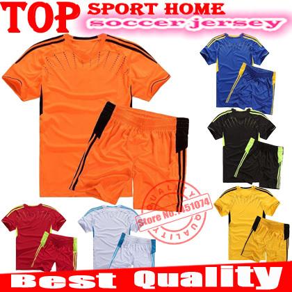 New brand Children's football clothing training suit kits children soccer jersey student uniforms class service sportwear Kids(China (Mainland))