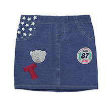 Clear Stock Get Rid of Tatty Teddy Bear Embroidery Denim skirt skirts jeans skirt outfit Me To You skirt(China (Mainland))
