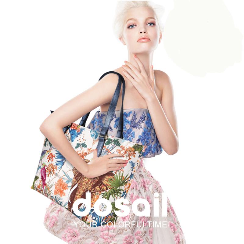 Dosail Elephant Printed women Bag High Quality Canvas Shoulder Bag, women messenger bags,Fashion famous brand women handbag bags(China (Mainland))