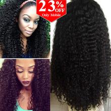 Pelucas de cabello humano brasileño rizado para mujeres