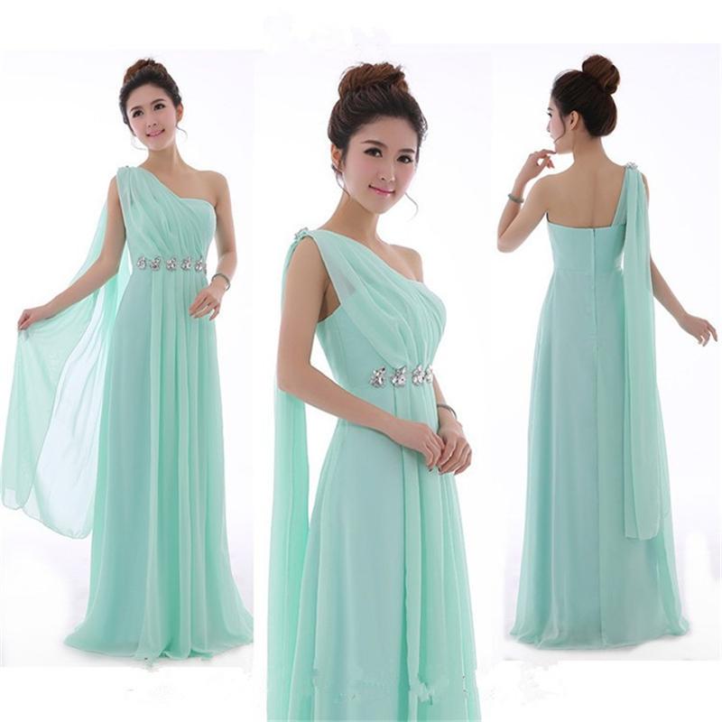 Promotional Green Chiffon Dress