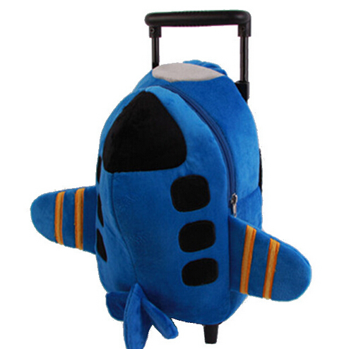 Children school bags with wheels backpack kid bag mochila infantil in kindergarten shoulder trolley bag toy airplane &