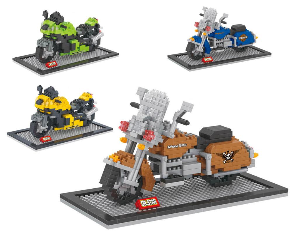 Harley Heavy Motorcycle Nano Block Model Kawasaki Racing Moto ABS Plastic Building Brick Toy(China (Mainland))