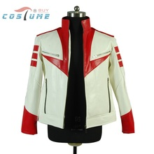 Space Battleship Yamato Susumu Kodai Uniform White Red Jacket Coat For Men Anime Halloween Cosplay Costume Film ver.Custom(China (Mainland))