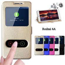 Buy Redmi 4A Case Quick Answer View Window Flip Stand Cover Case Xiaomi Redmi 4A Phone Cases Ultra Thin 5.0 inch Funda Coque for $3.89 in AliExpress store