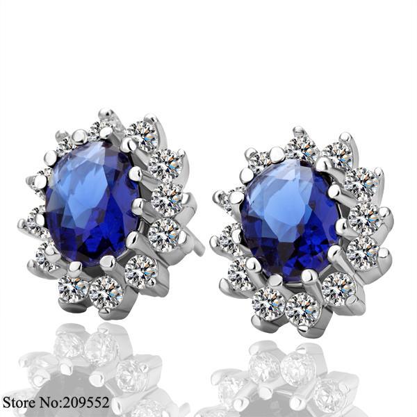 E027 18K Real Gold Plated Stud Earrings Women 2015 New Fashion Jewelry - Amanda Store store