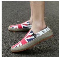 Free/dropp shipping  new British wind stripe boat shoes men's shoes for women's shoes couple canvas shoes Breathable lazy shoes
