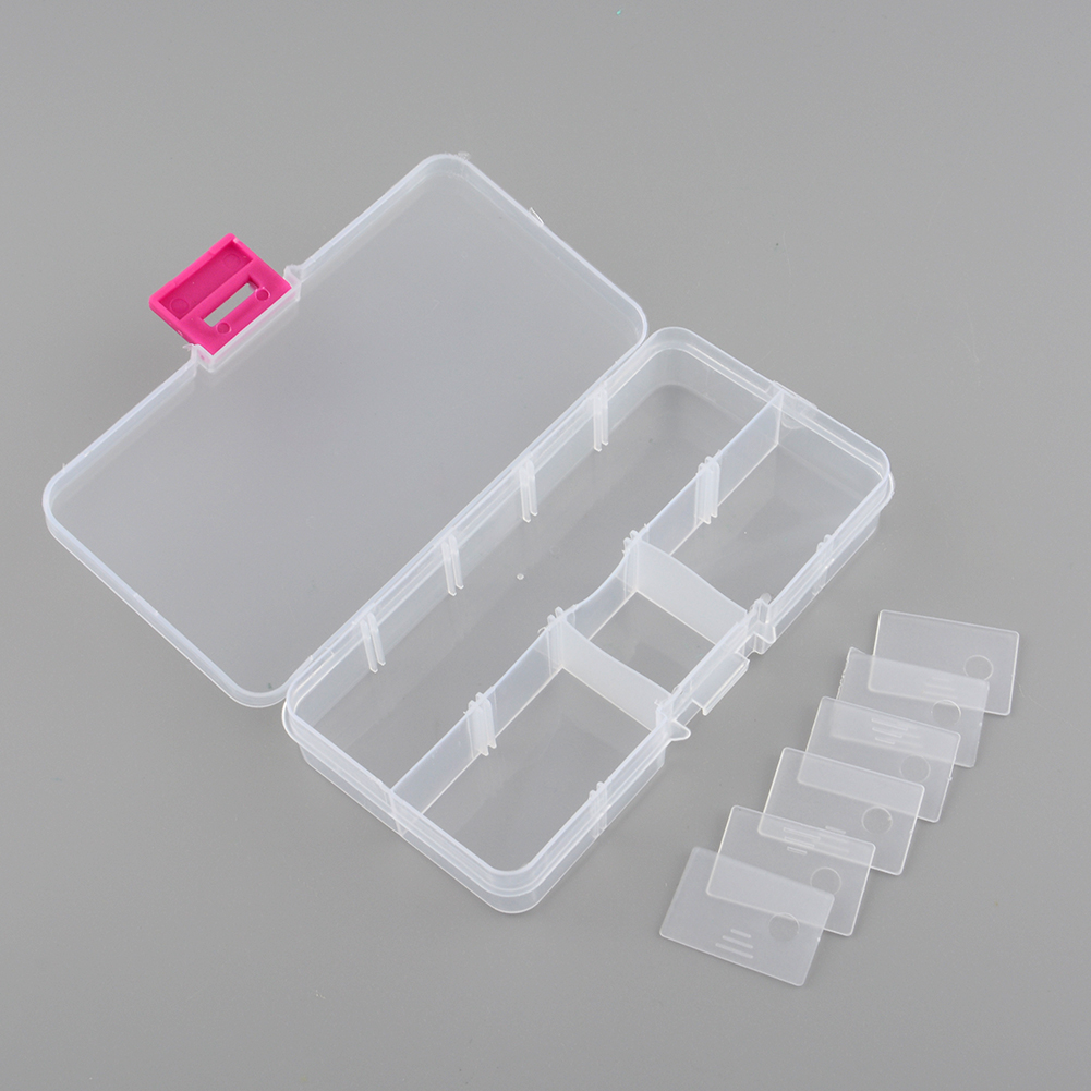 New Plastic 10 Slots Compartment Adjustable Jewelry Necklace Storage Box Case Holder Craft Organizer Container Hot(China (Mainland))