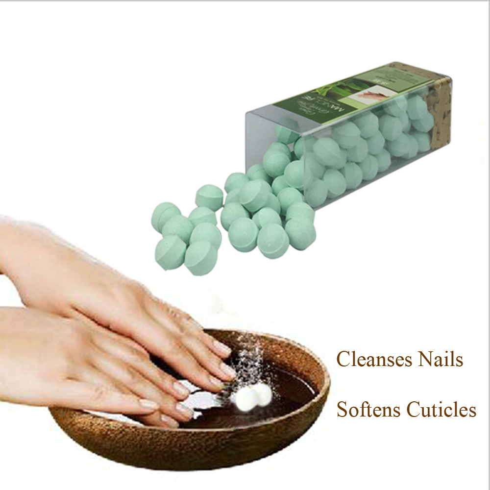 Manicure Soak Have Clean And Soften Cuticle Papaya & Green Tea 250g Nail Trainer In Manicure Bowl Use New Manicure Nail Tools(China (Mainland))