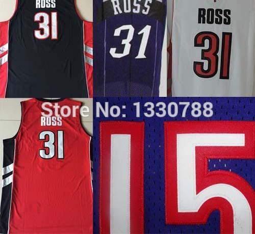 100% quality assured!!! Toronto #31 Terrence Ross Retro Jersey, Wholesale Stitched Black White Red Purple Cheap Basketball Jerse(China (Mainland))