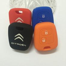 Бесплатная доставка силиконовые дистанционного управления автомобилем Sega / C5 / аксессуары ключи от машины caseKey чехол для Citroen Triunph 2 кнопки
