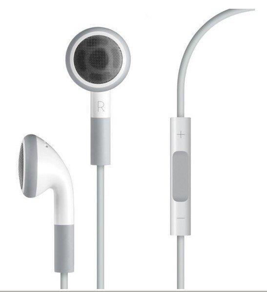 Free shipping original volume with mic Earphone Headphone For Apple iPod/iPhone/iPad, MP3 MP4 Player 3.5mm In-Ear Earphone