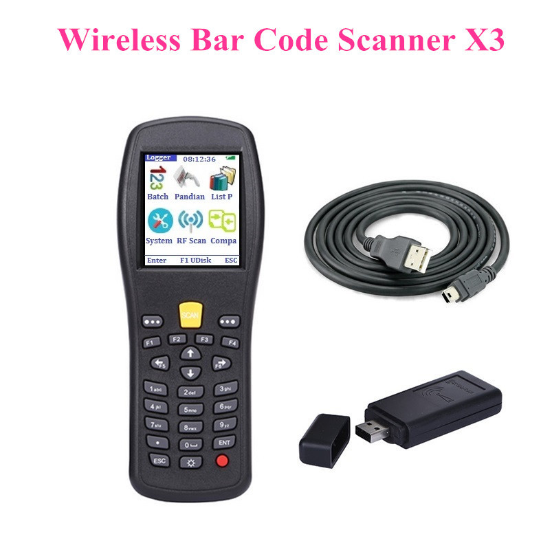 Free shipping! Wireless bar code scanner,Bar code Collector/Inventory PDA/Compare PDA/Switch Chinese and English X3<br><br>Aliexpress