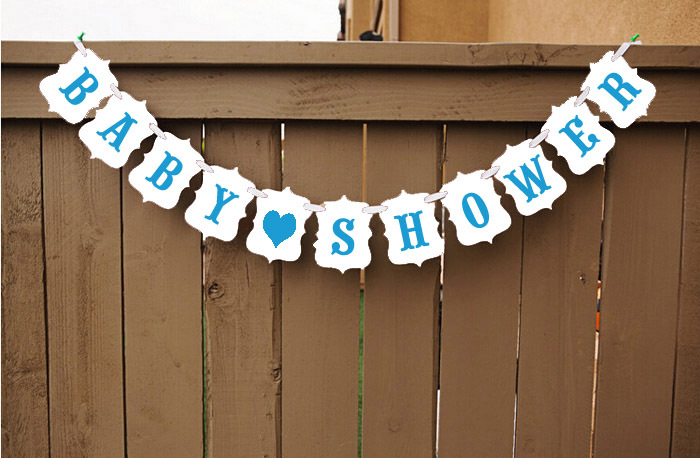 hot sale customerized high quality garland banner baby shower pho