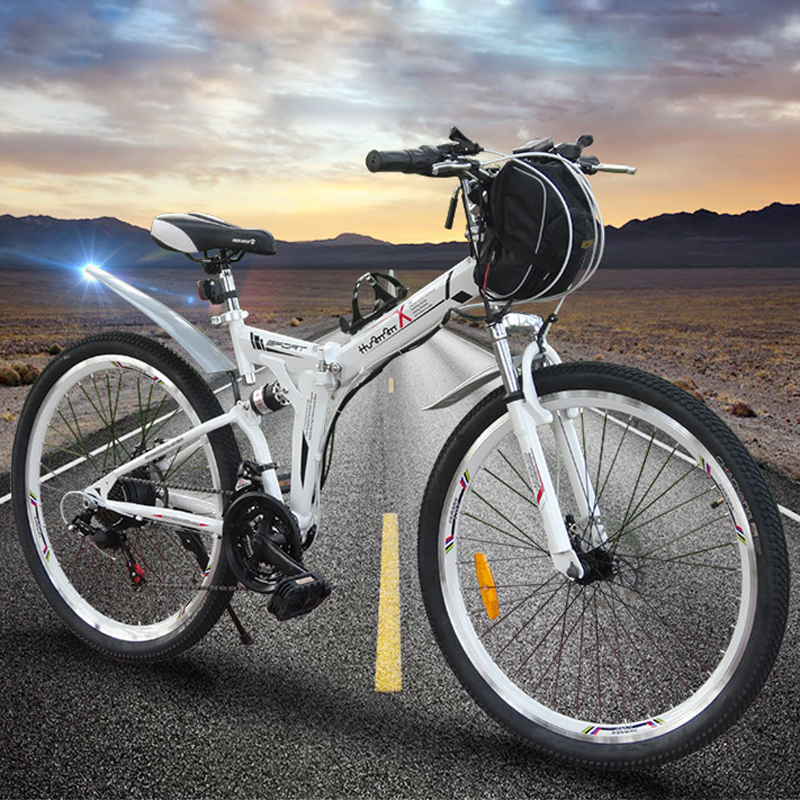 New arrival 26 inch electric folding mountain bike bicycle dual lithium 36V 12A Strong Power(China (Mainland))