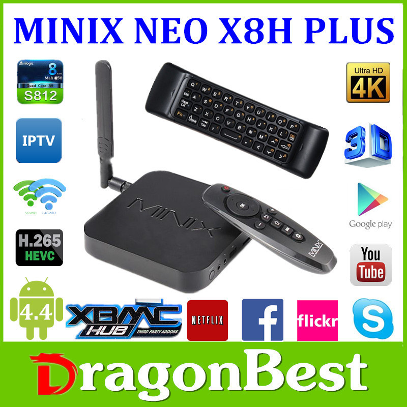 MINIX NEO X8 H Plus+NEO A2 Lite Amlogic S812 Quad Core 2G/16G Android 4.4 Smart TV BOX FULL HD media player XBMC 4K 3D(China (Mainland))