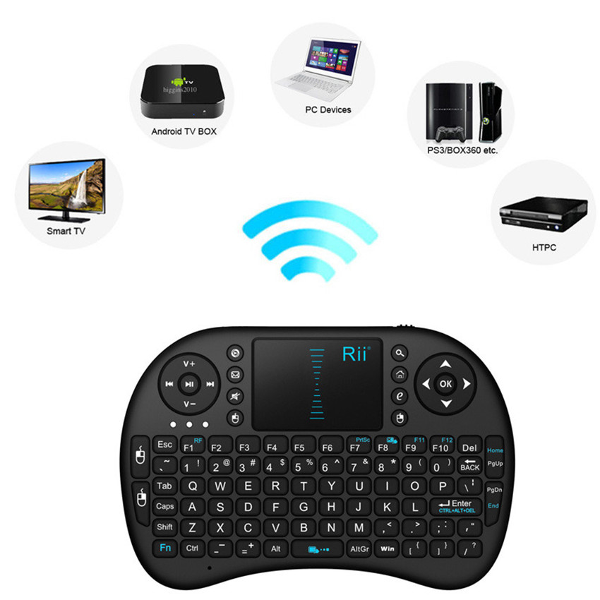 Гаджет  Hot Selling i8 2.4G Wireless Mini Keyboard Gaming Air Fly Mouse for Smart TV Android TV Box PS3 XBox HDPC Laptop Tablet PC iPad None Компьютер & сеть