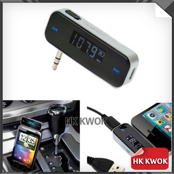 3.5mm Car Wireless Music FM Radio MP3 Transmitter For Android/iPod/iPad/iPhone 4 4S 5 5S 6/Galaxy S2 S3/HTC -1(China (Mainland))