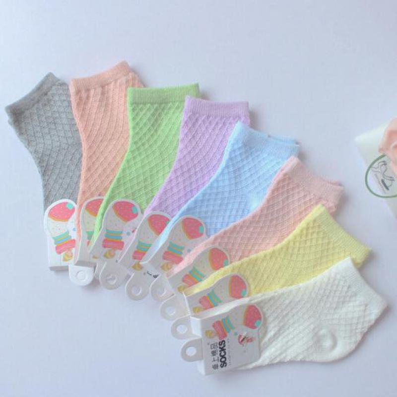 10 Pairs / Lot 2016 Spring Autumn Summer Cotton Baby Socks Girls Socks Kids Solid Color Sport Socks Calcetines Meias Chaussette<br><br>Aliexpress
