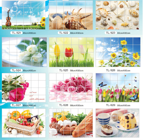 H 23.5 inch x W 35.5 inch 60cm*90cm kitchen decor bathroom mural wall sticker adhesive poster picture ceramic tile(China (Mainland))