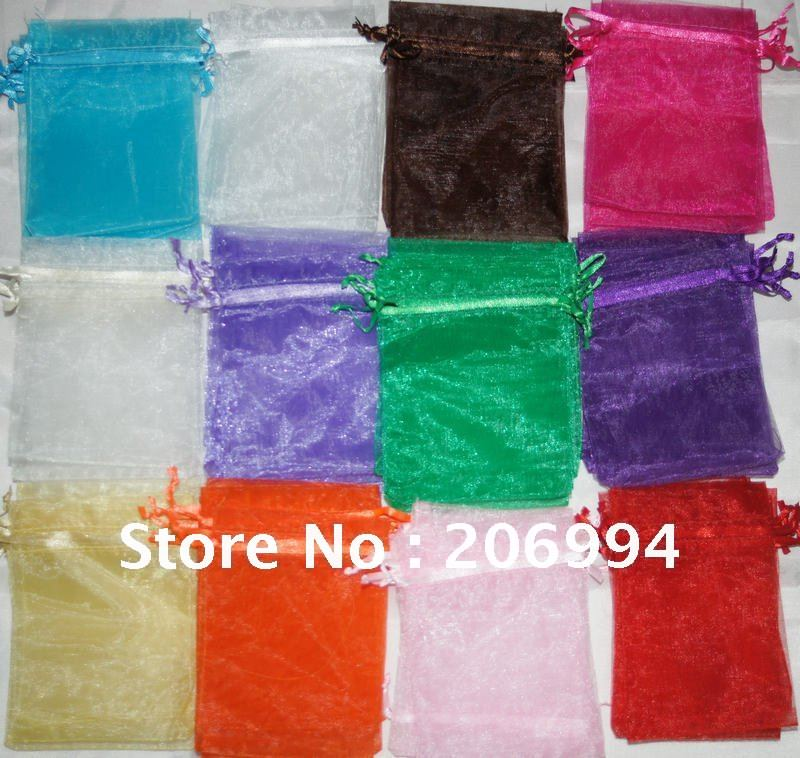 Organza Wedding Favor Bags Wholesale : Wholesale 1000pcs mix color silk Organza Wedding Favor Gift Bag 7x9cm ...