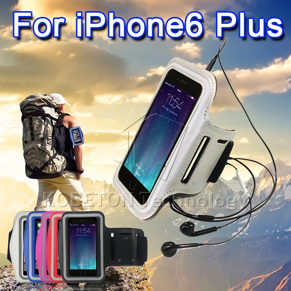"""Universal 5.5"""" Mobile Phone Sweatproof Waterproof Jogging Running Arm Band Holder Case for iPhone 6 6 Plus Sport Bag Pouch(China (Mainland))"""